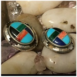 Carolyn Pollack Inlay Earrings